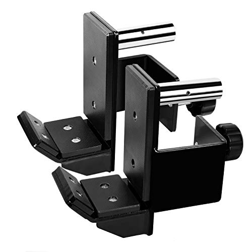 RIGERS J-Hook for Power Rack Attachment - Fit 3x3 Inch Tube Racks - Support up to 1000 LBS - 1 Inch Hole Adapters Included - 3 Pads Liner