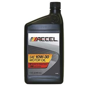 accel 22500 sae 10w 30 sf motor oil 1 quart bottle case of 12 automotive. Black Bedroom Furniture Sets. Home Design Ideas