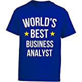 This Gift Rocks ! World's Best Business Analyst Gift - Girl Kids T-shirt Kids L Royal
