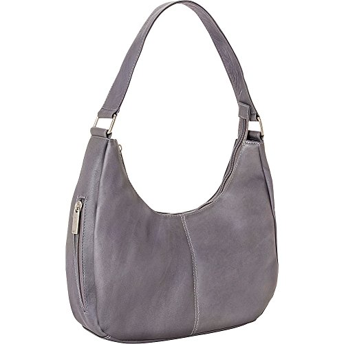 Le Donne Leather Single Handle Side Zip Hobo - Handbag Hobo Medium Leather