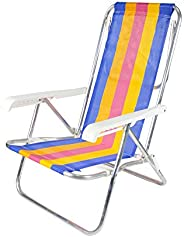Bel Lazer Cadeira Reclinaver 8 posições, aluminio (cores sortidas)