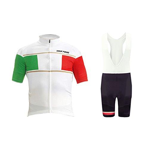 Short Cycling Free Bib (Uglyfrog 2017 Mens Short Sleeve Cycling Jersey+Short Bib Sets with Gel Pad Outdoor Sports Summer Style Bike ClothesCCJ04)
