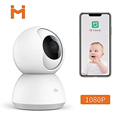 Xiaomi Smart Home Camera, MI 1080P Wireless Surveillance WiFi IP Camera for Indoor Home Security Pet Baby Monitor with HD Night Vision,Pan/Tilt,Two-Way Audio,Motion Detection Remote View by ANRAN