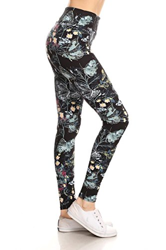 LYX-R859W Love Persuasion Printed Yoga Leggings, Plus Size