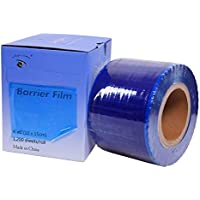 "Barrier Film BLUE 4' X 6"" Size 1200 Sheets Roll Style Dispenser Box."