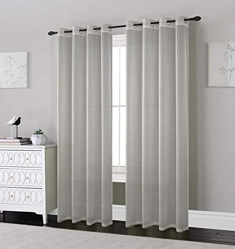 2 Panels Grommet Window Sheer Curtains 54