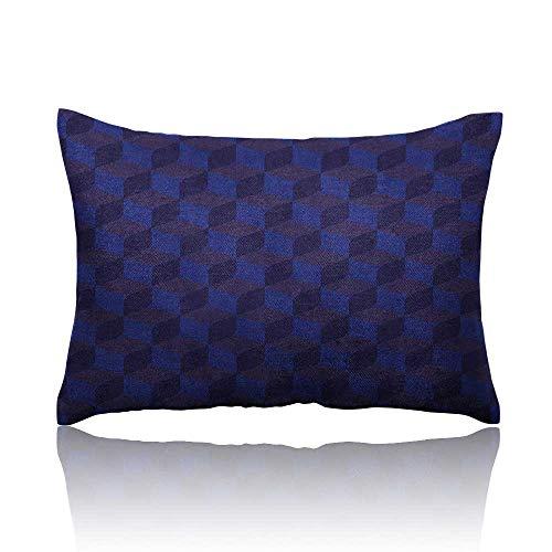 Anyangeight Indigo Standard Pillowcase 3D Print Like Geometrical Futuristic Inspired Shadow Boxes Cubes Image Print Pillowcase Protector 14