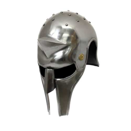 Gladiator Helmet Replica - Urban Designs Antique Replica Metal Gladiator's Arena Helmet, Full