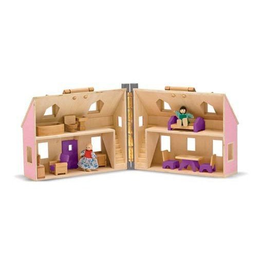 Serra Baby Melissa & Doug Wooden Portable Small Furnished Home