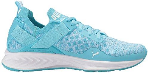 Puma Women's Ignite Evoknit Lo Wn Sneaker, Black Nrgy Turquoise-puma White