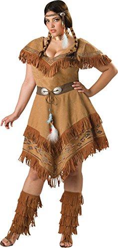 Plus Size Pocahontas Adult Costumes (Indian Maiden Adult Costume - Plus Size 2X)
