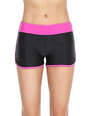 a8f59fdceb23f Eono Essentials Women's Colour Block Swim Shorts / Boy Shorts / Beach  Bottoms
