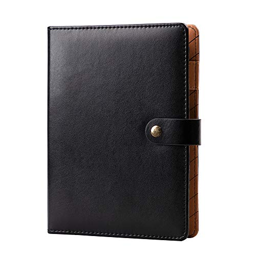 - Leather Binder Journal Refillable Diary with Pen Holder 6 Ring Ruled Notebook and Journal,A5 Binder Loose Leaf Travel Journal 7.2
