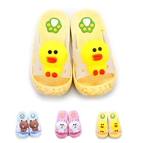 Yanlinmingjing Little Kids Summer Sandals Slide Slippers Anti- Slip Bathroom Slippers for Toddler Girls Boys Beach Sandals Shoes Shower Pool Slippers (10-10.5 M US Little Kid, Yellow Duck) ()