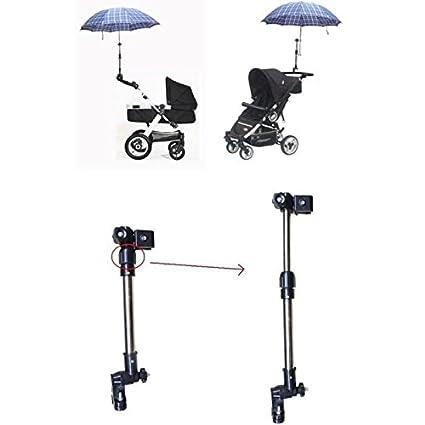Negro ajustable soporte para paraguas soporte de sombrilla para bebé cochecito Bick: Amazon.es: Hogar