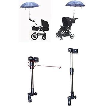 Einstellbar Kinderwagen Schirmhalter Regenschirm Halterung Sonnerschirm Halter #