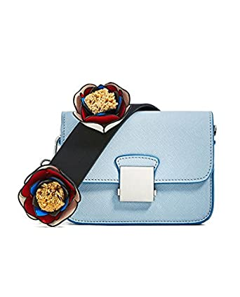 Zara Womenu0026#39;s Crossbody Bag With Floral Strap 4423/204 Amazon.co.uk Clothing