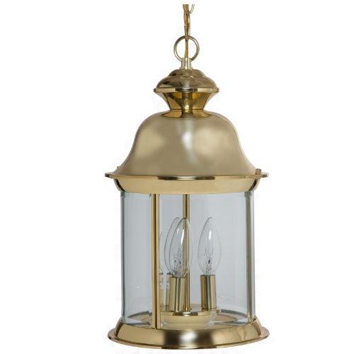 Brass Hanging Porch Light