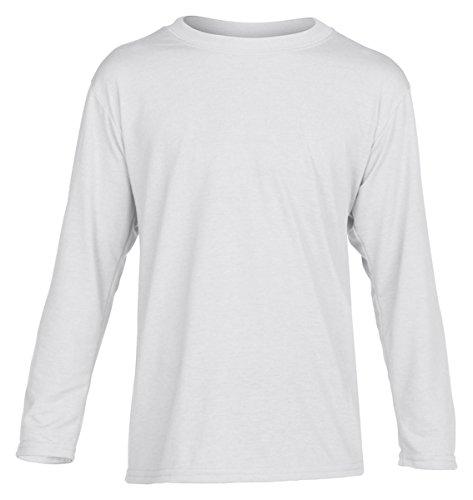 Gildan Big Boys' Crewneck Wicking Performance Jersey T-Shirt, Wht, - Mens Crewneck Gildan Tee Big