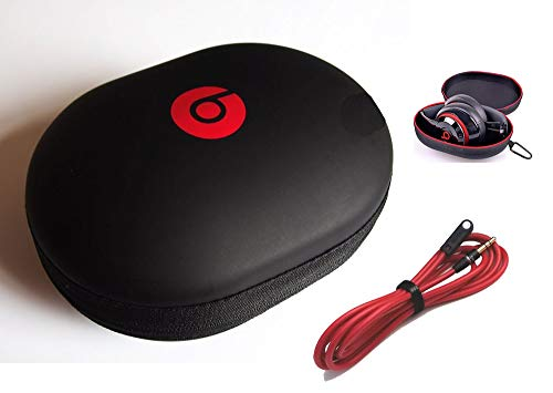 Matte Headphone Case for Monster Beats Studio by Dr DRE, Wired or Wireless HD Studio and Beats Solo Headphones. Includes 1 Piece 3.5mm Angle Stereo Audio Cable (48 Inches). by: BuyGeneral. (For Beats Headphone Case Studio)