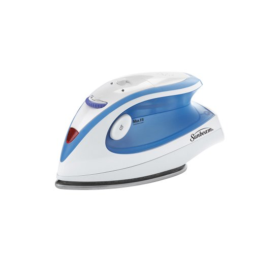 Sunbeam Hot-2-Trot 800 Watt Compact Non-Stick Soleplate Travel Iron,  (Best Iron With Titanium Anti)