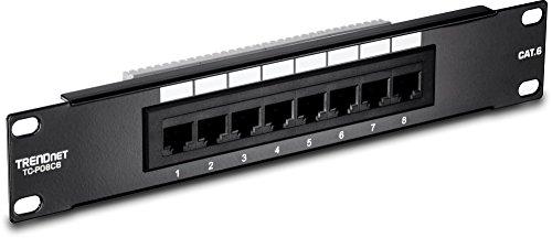 6 Port Patch Panel (TRENDnet 8-Port Cat6 Unshielded Rackmount Patch Panel, 10 Inch Wide, 8 x Gigabit RJ-45 Ethernet Ports,  TC-P08C6)