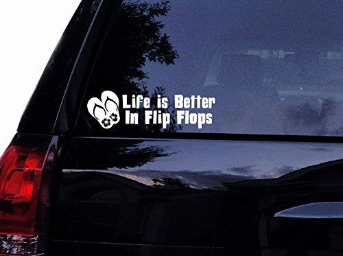 flip flop window decal white - 7