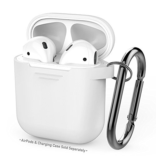 AhaStyle Premium Silicone Case Full Protective Cover Skin for Apple Airpods Charging Case- White