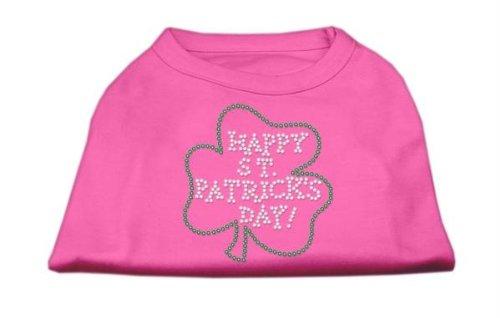 Mirage Pet Products Happy St. Patrick's Day Rhinestone Pet Shirt, 3X-Large, Bright Pink