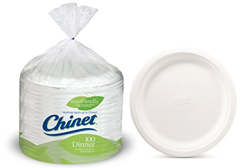 Divided Oblong - Chinet 10 3/8 Dinner Plate 100-count Box