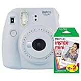 Photo : Fujifilm instax Mini 9 Instant Camera (Smokey White) and instax Film Twin Pack (20 Exposures) Bundle