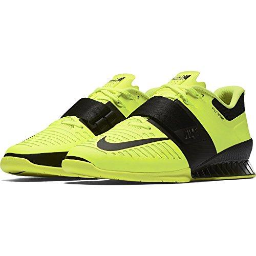 Nike Mens Romaleos 3 Training Shoe, Volt/Black, Size 12