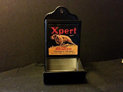 (Vintage Style Western Shotgun Shell Tin Matchbox Holder.Artist Handcrafted)