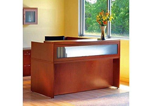 Mayline Modern Desk - Aberdeen L Shaped Modern Receptionist Desk Cherry Finish Dimensions: 72