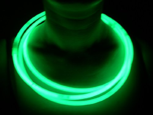 "Glow Sticks Bulk Wholesale Necklaces, 100 22"" Green Glow Stick Necklaces +100 FREE Glow Bracelets! Bright Color, Glow 8-12 Hrs, Connector Pre-attached(Time Saver), Sturdy Packaging, GlowWithUs Brand"