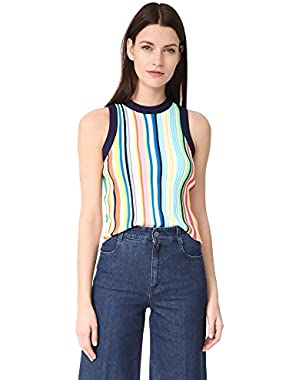 Women's Vertical Stripe Shell Top