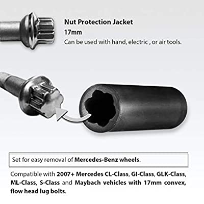 FIRSTINFO Protective Lug Nut Socket for Mercedes Benz Vehicles with 17mm Convex, Flower Head Lug Nuts: Industrial & Scientific