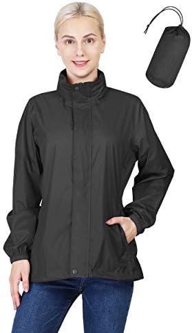 Outdoor Ventures Women's Lightweight Raincoat Packable Rain Jacket Waterproof Raincoat with Hood Active Outdoor Windbreaker