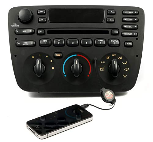 - 1 Factory Radio AM FM CD Player w Aux Input Compatible With 2000-04 Ford Taurus 1F1F-18C858-DC