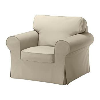 Ikea Ektorp Chair Cover, Tygelsjo Beige (Cover Only)