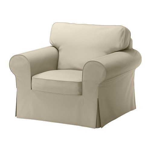 Ikea Ektorp Chair Cover, Tygelsjo Beige (Cover Only) (Ikea Chair Slipcover)