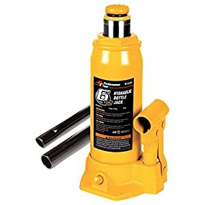 Performance Tool W1625 6-Ton (12,000 lbs.) Heavy Duty Hydraulic Bottle Jack