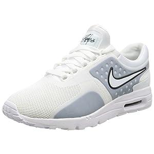 Nike Women's Air Max Zero White/White-Black Ankle-High Running Shoe - 8.5M