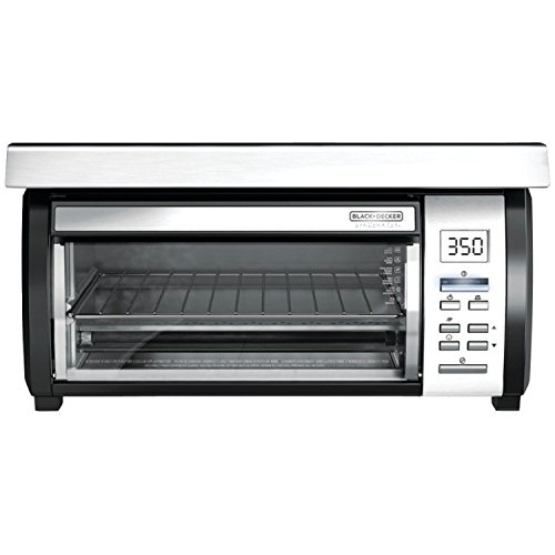 (Ship from USA) BLACK+DECKER TROS1000D Space Maker Digital Toaster Oven Stainless Steel/Black /ITEM NO#8Y-IFW81854291068 by Rosotion