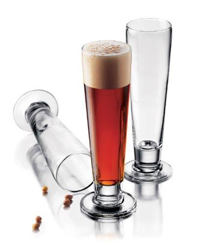 Footed Pilsner Beer Glass - 2