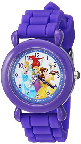 Disney Girl's 'Ariel' Quartz Plastic and Silicone Casual Watch, Color:Purple (Model: WDS000148)