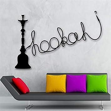 Handaxian Shisha Shisha Pegatina de Pared Vinilo Cultura árabe decoración para Fumar 42x68 cm