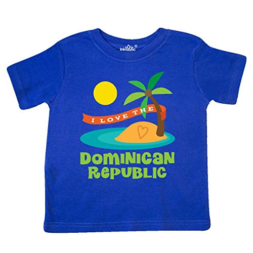 inktastic I Love The Dominican Republic Toddler T-Shirt 3T Royal Blue (Best City In Dominican Republic)