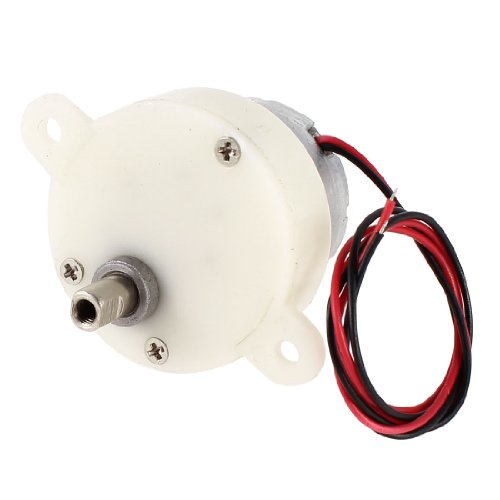 uxcell 5RPM 2 Wire 5mm Shaft Connecting Cylinder Shape Micro Motor DC 3-6V