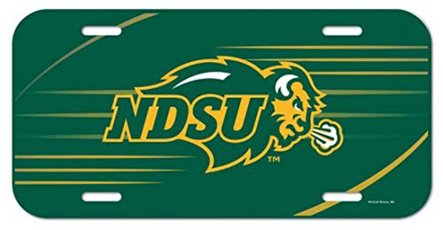 NCAA North Dakota State NDSU Bison Thin Plastic License Plate ()